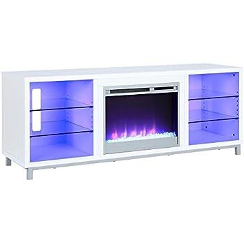 Amazon Com Lumina Fireplace Tv Stand For Tvs Upto 70 White