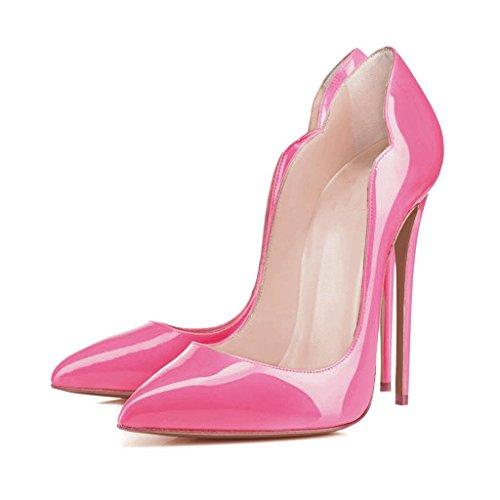 Arc-en-Ciel zapatos de las mujeres del estilete bombas de tacón alto Pink