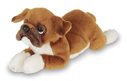 Bearington Lil' Roscoe Small Plush Boxer Stuffed Animal Puppy Dog, 8 inches (Boxer Stuffed Animal)