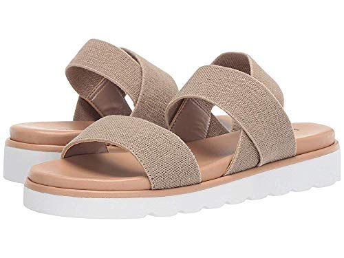 Donald J Pliner Women's Louis Natural Linen Elastic 7.5 M US Donald J Pliner Ankle Strap Platforms