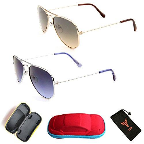 Kids Aviator Retro Classic Oval Frame Revo Lens Sunglasses (Age- 2 to 9 Yrs - Men For Sunglasses 3