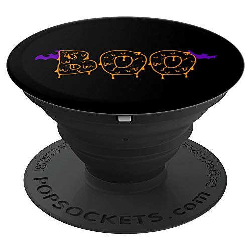 Eerie BOO Purple Bats Halloween - PopSockets Grip and Stand for Phones and Tablets
