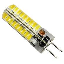 Pack 10,GY6.35 LED Bulb 12V AC / 12-24V DC 3.5W 380 Lumens 72PCS 5730 SMD Silica Gel Transparent Lamp (Warm White 2700K -3200K)