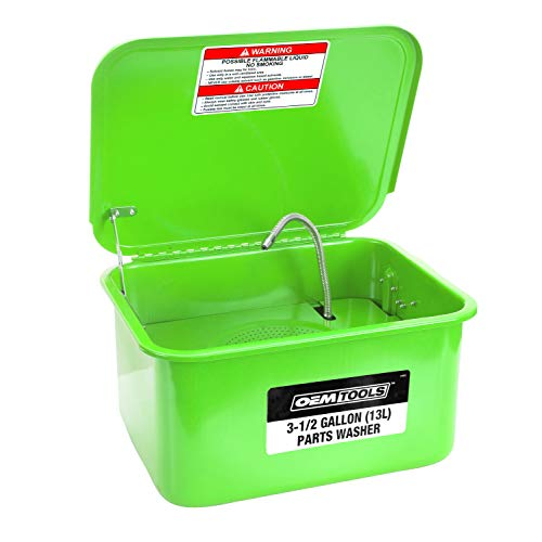 OEMTOOLS 24800 3.5 Gallon Benchtop Washer (Colors May Vary) | Use Water-Based Cleaning Solutions to Clean & Degrease Parts During Installs and Rebuilds | Auto Mechanic & Workshop Tool