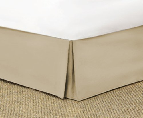 SRP Bedding Real 350 Thread Count Split Corner Bed Skirt/Dust Ruffle Queen Size Solid Light Taupe 14