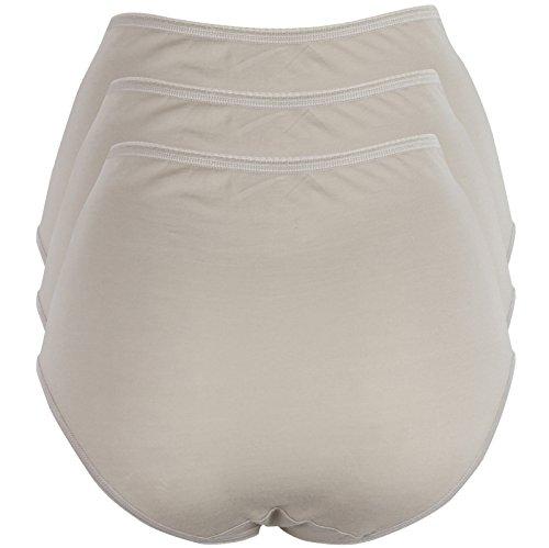 Brand New Ex M/&S Lace Low Leg Shapewear Knickers Sizes 8-22 White//Almond