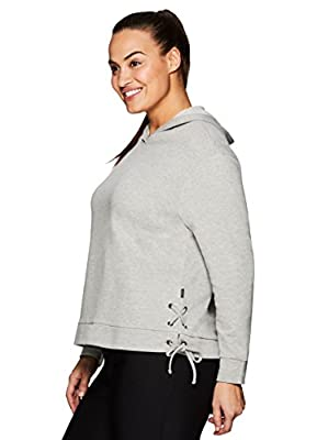 RBX Active Women's Plus French Terry Hoodie with Lace