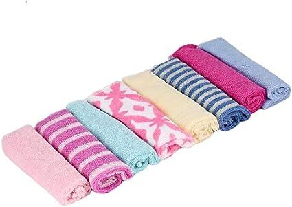 8 pcs b/éb/é b/éb/é nouveau-n/é enfants serviette de bain gant de toilette baigner se nourrir lingette chiffon doux FT Kit doux bon soin color/é confortable couleur: al/éatoire