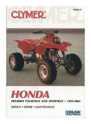 M454-3 New Clymer Honda ATV Manual TRX400EX Fourtrax & Sportrax (1999-2003)