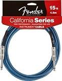 Fender, California, cavo per chitarra, della lunghezza di 4,5 m, di colore Lake Placid Blue (azzurro)
