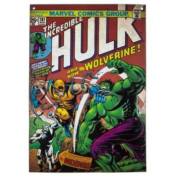 Incredible Hulk Comic #181 Embossed Tin Sign Theater, Media Room (Room Tin)
