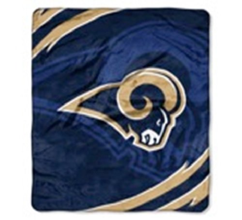 NFL Football Los Angeles Rams Royal Plush Rachel King Size Throw Blanket by NFL