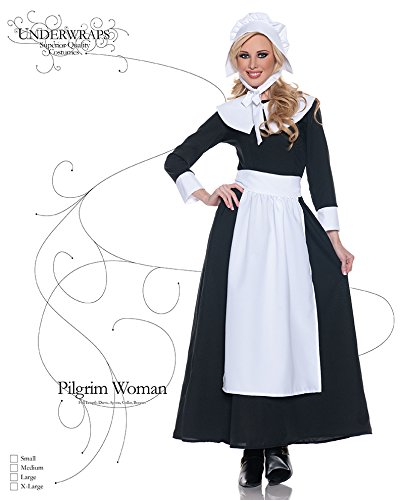 What colors were used for pilgrim women's clothing?