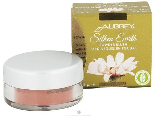 Aubrey Organics Silken Earth Powder Blush Warmed Rose -- 3 g