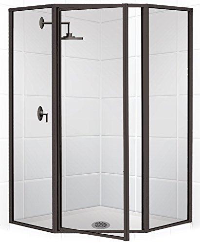 Coastal Shower Doors Legend Series Framed Neo-Angle Swing Shower ...