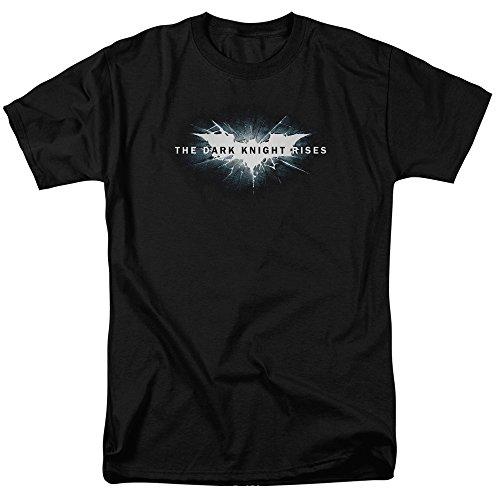 Trevco Men's Batman Dark Knight Rises Short Sleeve T-Shirt, Crack Black, Small