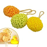 EQLEF® 2pcs Shower Spa Sponge Body Cleaning Scrub for Baby Kids Random Color