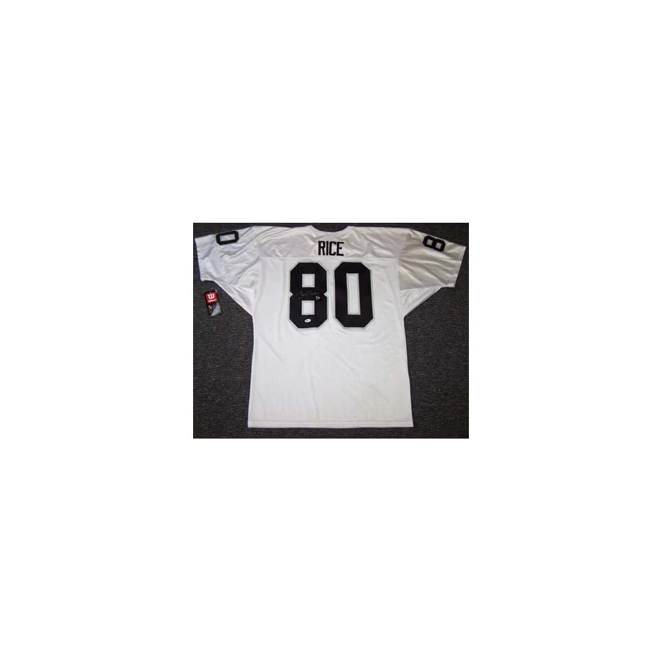 Jerry Rice Autographed Jersey   White
