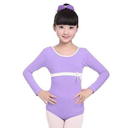 7f8a37a2f Amazon.com  Embiofuels(TM) Children Long Sleeve Gymnastics Leotard ...