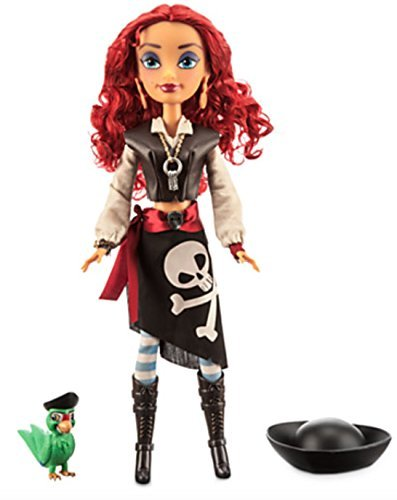 (Disney Parks Attractionistas Pearl Pirates of the Caribbean 12 in Doll w Parrot)
