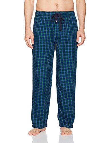 IZOD Men's Poly-Rayon Yarn-Dye Woven Sleep Pant, Navy/Green Plaid, (Woven Yarn Dye)
