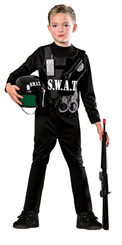 [Young Heroes Child's S.W.A.T. Team Costume, Small] (Swat Vest Costume)