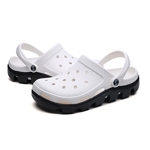 Shoes Clog Breathable White Shoes Black Hole Sandals Hollow Mules Unisex Garden New Apodidae wBqt7zt0