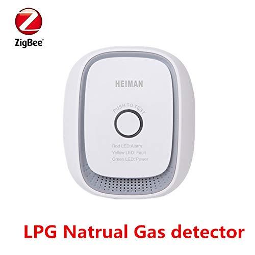 Zigbee LPG Natural Gas Detector with US Power Plug