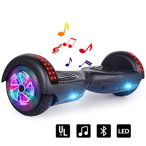 LIEAGLE Hoverboard, 6.5″ Self Balancing Scooter Hover Board with UL2272 Certified Wheels LED Lights for Kids Adults