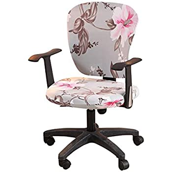 Rotate Armchair Slipcover Removable Computer Office Chair Cover Split-Style8