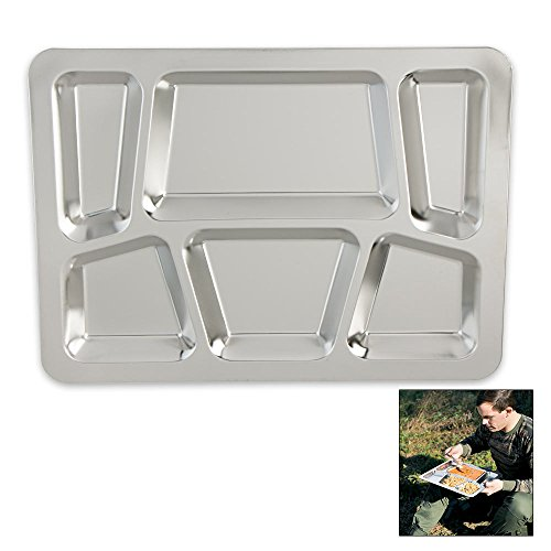 Steel Stainless Surplus (K EXCLUSIVE Military Surplus Stainless Steel Dining Tray)