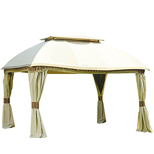 (Garden Winds LCM1224B Sam's Club Dome Gazebo Replacement Canopy, Beige)