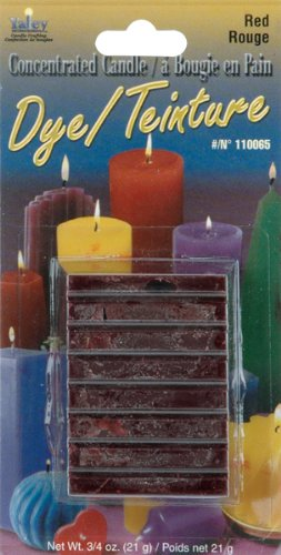 Yaley Concentrated Candle Dye Blocks, 0.75-Ounce, Red 110000D-65
