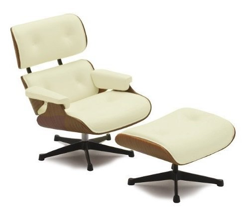 miniature-lounge-chair-and-ottoman-mid-century-modern-design-112-scale-3-tall-1-set-of-2-pcs-white