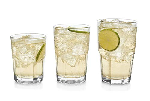 Libbey Stonehenge 30-Piece Tumbler, Rocks and Juice Glass Set