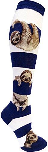Modsocks Women'S Sloth Stripe Knee High Socks (Fits Most Women Shoe Size 6-10) -