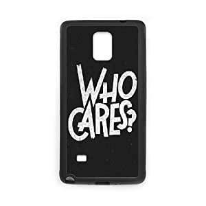 Samsung Galaxy Note 4 Cell Phone Case Black_quotes who cares FY1504814