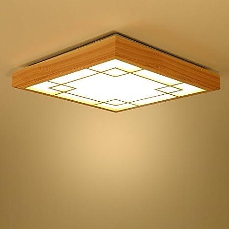 gqlb luces de techo sólido troncos de madera 430 * 430 * 65 ...