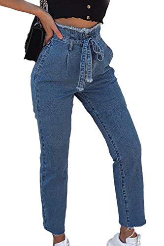 Bleu Boot Femmes Jeans Denim Suvotimo Casual Pantalon Cut Taille Haute wzdWICq