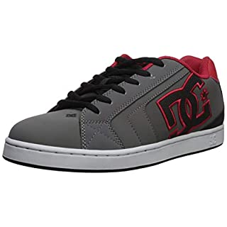 DC Men's NET Skate Shoe, grey/black/grey, 18 D M US