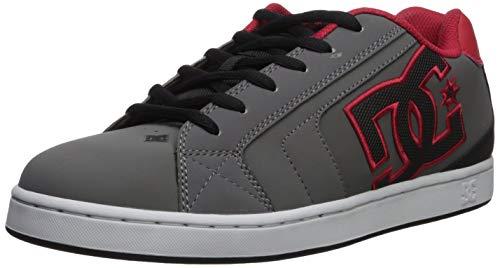 DC Men's NET Skate Shoe, grey/black/grey, 13 D M US