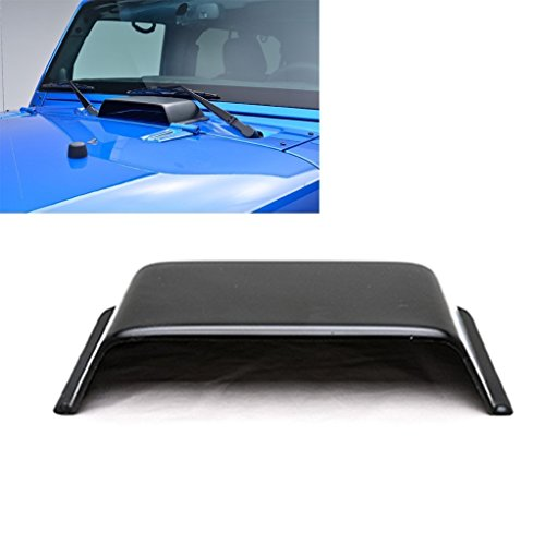 kkone Black Cowl Vent Hood Scoop Fit for Jeep Wrangler JK TJ 1998-2018