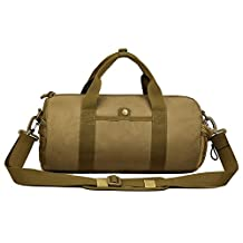 Protector Plus Tactical Duffle MOLLE Handbag Gear Military Travel Carry On Shoulder Bag Small Valise(Brown)