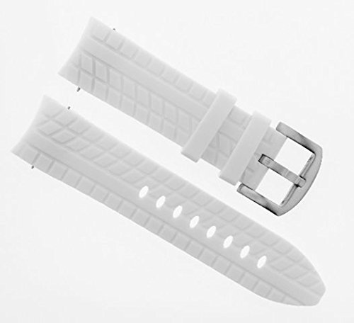 24MM RUBBER WATCH BAND STRAP FOR 48MM GRANDEUR CHRONOGRAPH TW129 TW 129 WHITE 48mm Grandeur Watch
