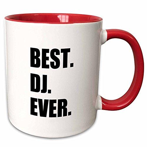 (3dRose 179774_5 Best Dj Ever Two Tone Mug, 11 oz, Black )