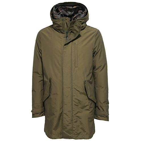 Uomo Down Verde Mountain Woolrich Jacket Militare Giacca Parka Men's CSw4SX7tqx