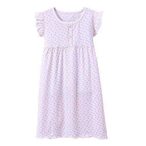 (DGAGA Little Girls Princess Nightgown Cotton Lace Bowknot Sleepwear Nightdress (9-10 Years/150cm, White) )
