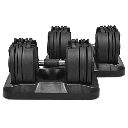 Powerball Adjustable Dumbbell Set (2.3kg - 20KG Per Dumbbell) With Patented...