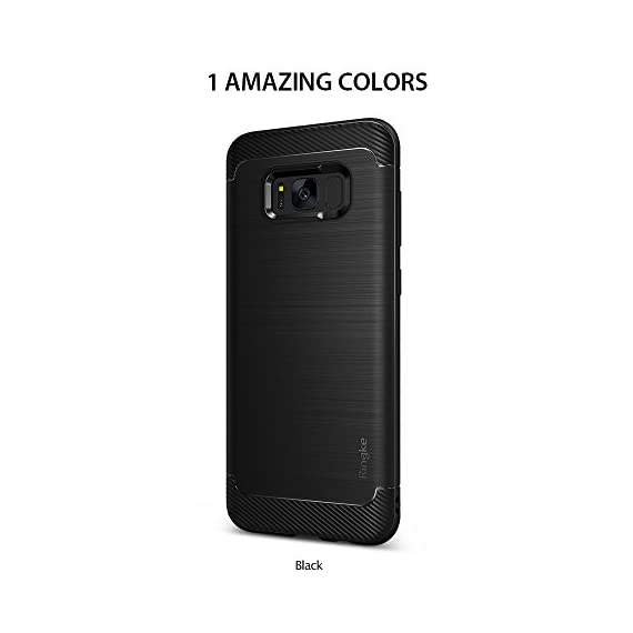Ringke Onyx Compatible with Galaxy S8 Plus Case PartialUpdated Version Brushed Metal Design Flexible & Slim Dynamic Stroked Pattern Trim Fingerprint Resistant Cover for Galaxy S 8 Plus - Black 8 Heavy duty defense and brushed metal texture layout with a mechanical design complete with Military Grade MIL-STD 810G - 516.6 drop protection. Supports Qi Wireless Charging without the hassle of having to remove the case for Galaxy S8 Plus. Precision-cut TPU profile improves the slim and streamlined appearance with a tough outer flexible protective layer closely contouring each edge and curve of your device. The precise slim fit stays perfect and true to preserve all the premium profile. Highly durable specialized thermoplastic urethane material case is perfectly compatible and secures your device in a comfortable flexible fit for optimized protection against scratches or scrapes. Ultra sturdy yet lightweight, there's no chance in weighing down or bulking up your slim device.