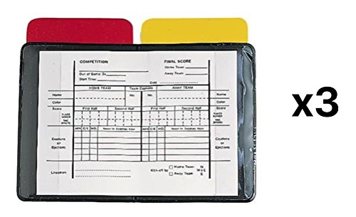 Champions Football Card - Champion Heavy Duty Sports Soccer Referee Red Yellow Wallet Score Cards RW